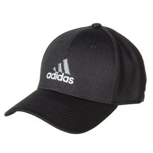 ADIDAS Zags II A-Flex Stretch Fit Cap BLACK S/M